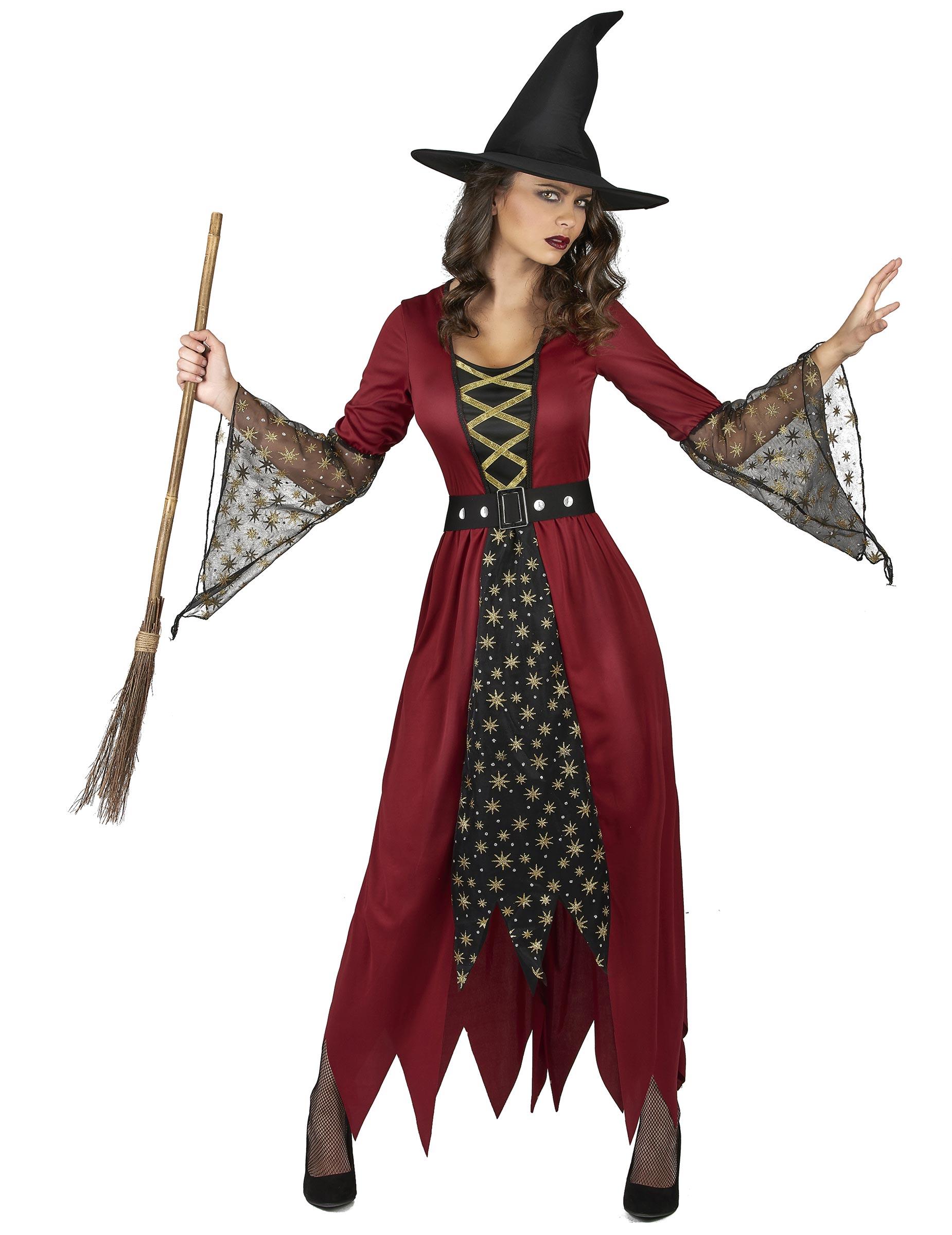 Costume da strega con stelle per donna su VegaooParty 15630377662b