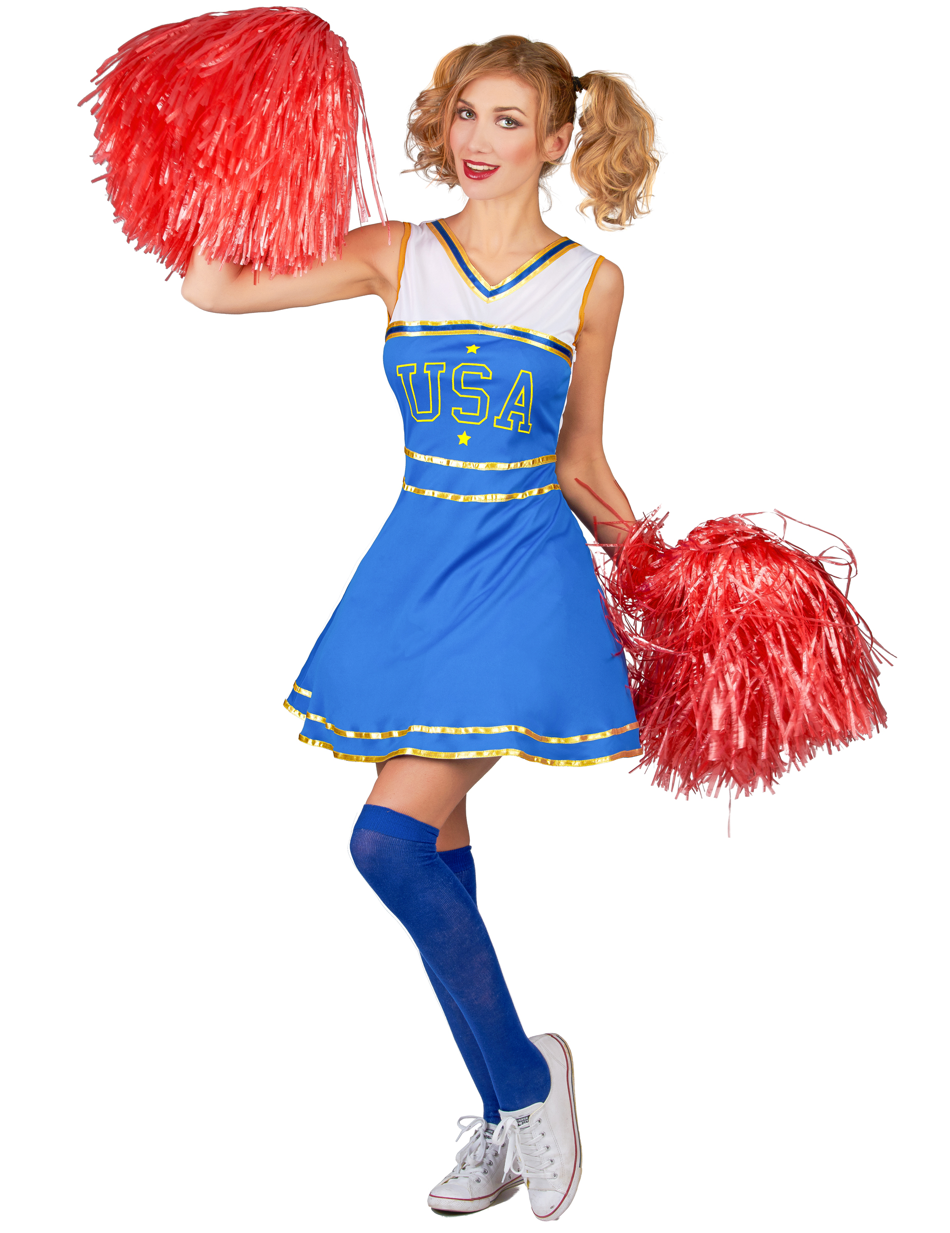 ba0cdf5172183 Costume da cheerleader USA per donna su VegaooParty