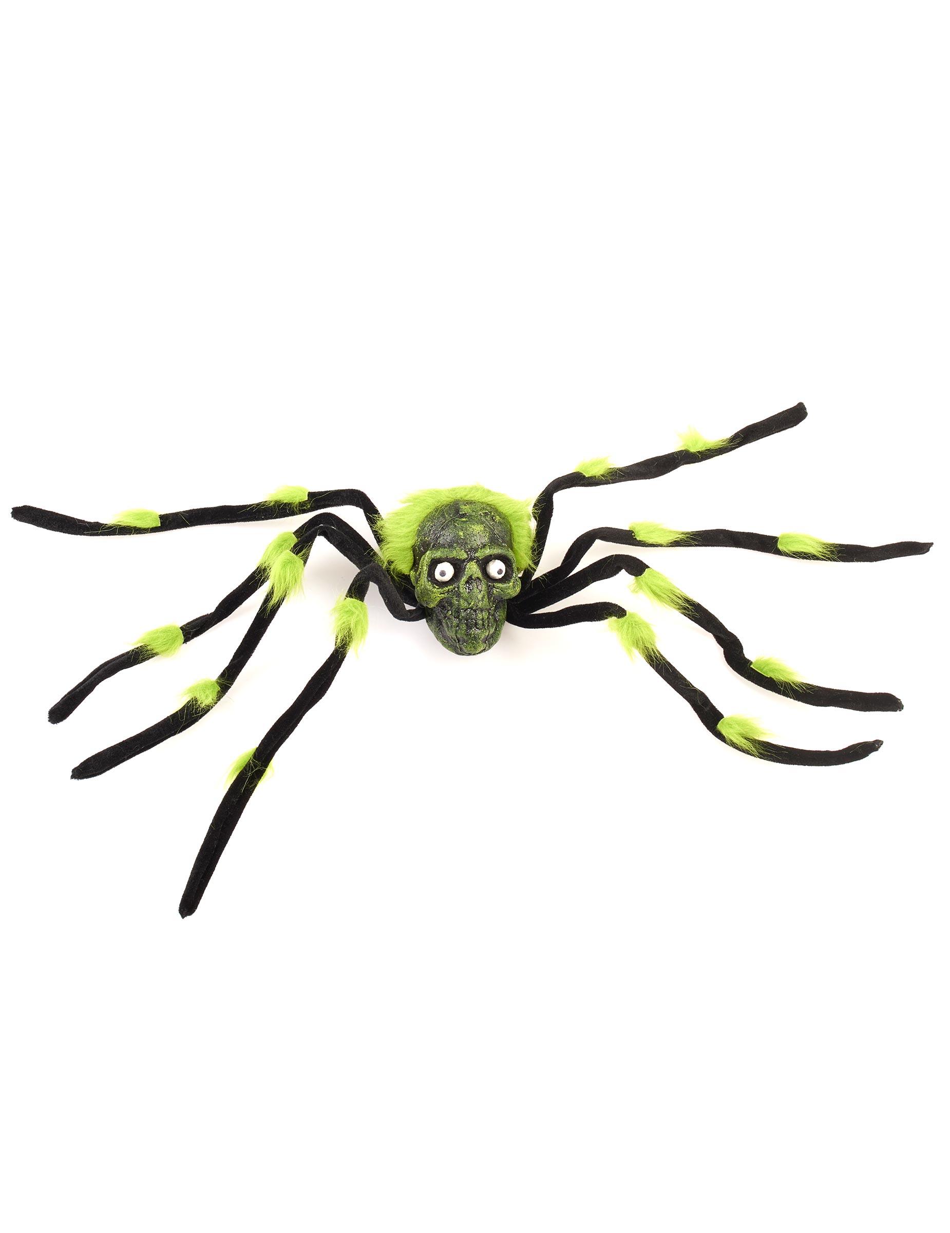 Ragno gigante nero e verde con teschio su vegaooparty negozio di