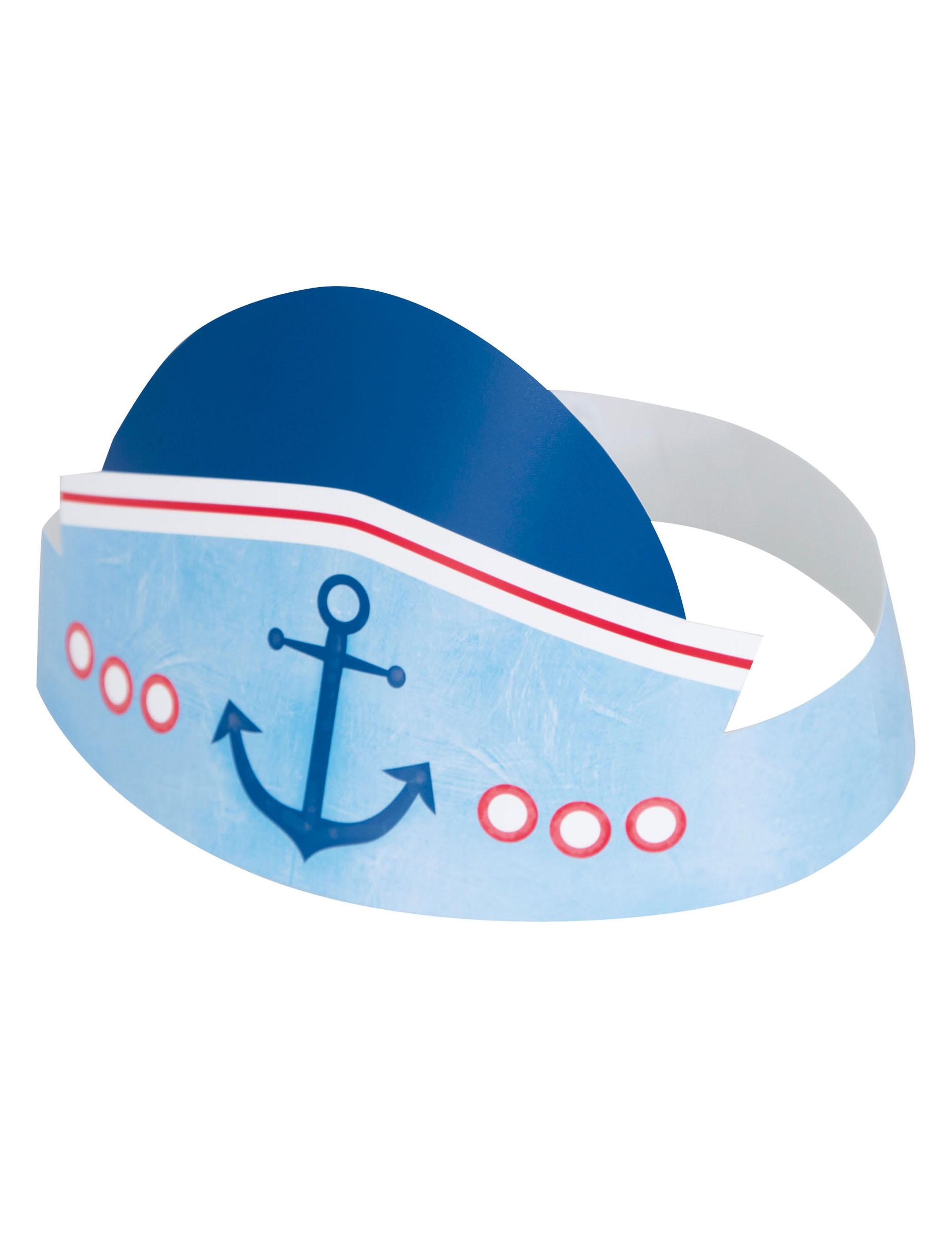 6 cappellini per festa 1 anno marinaio su VegaooParty b118fed34542