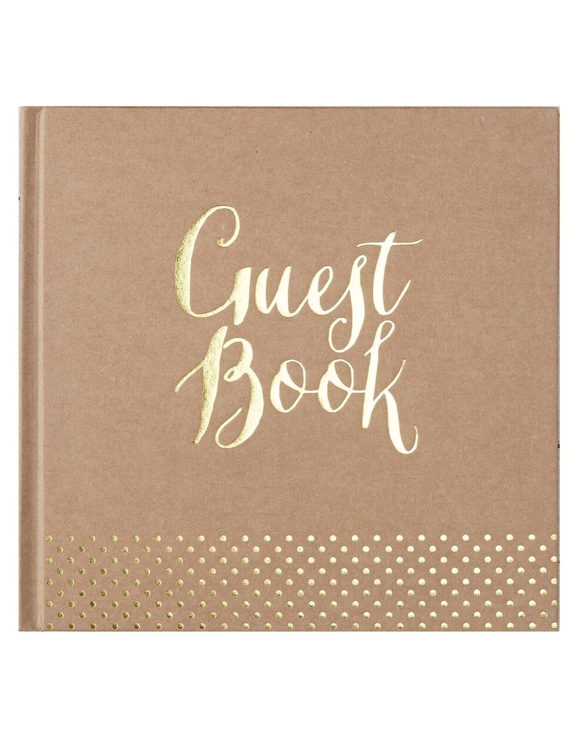 Libro delle firme kraft Guest book Taglia Unica