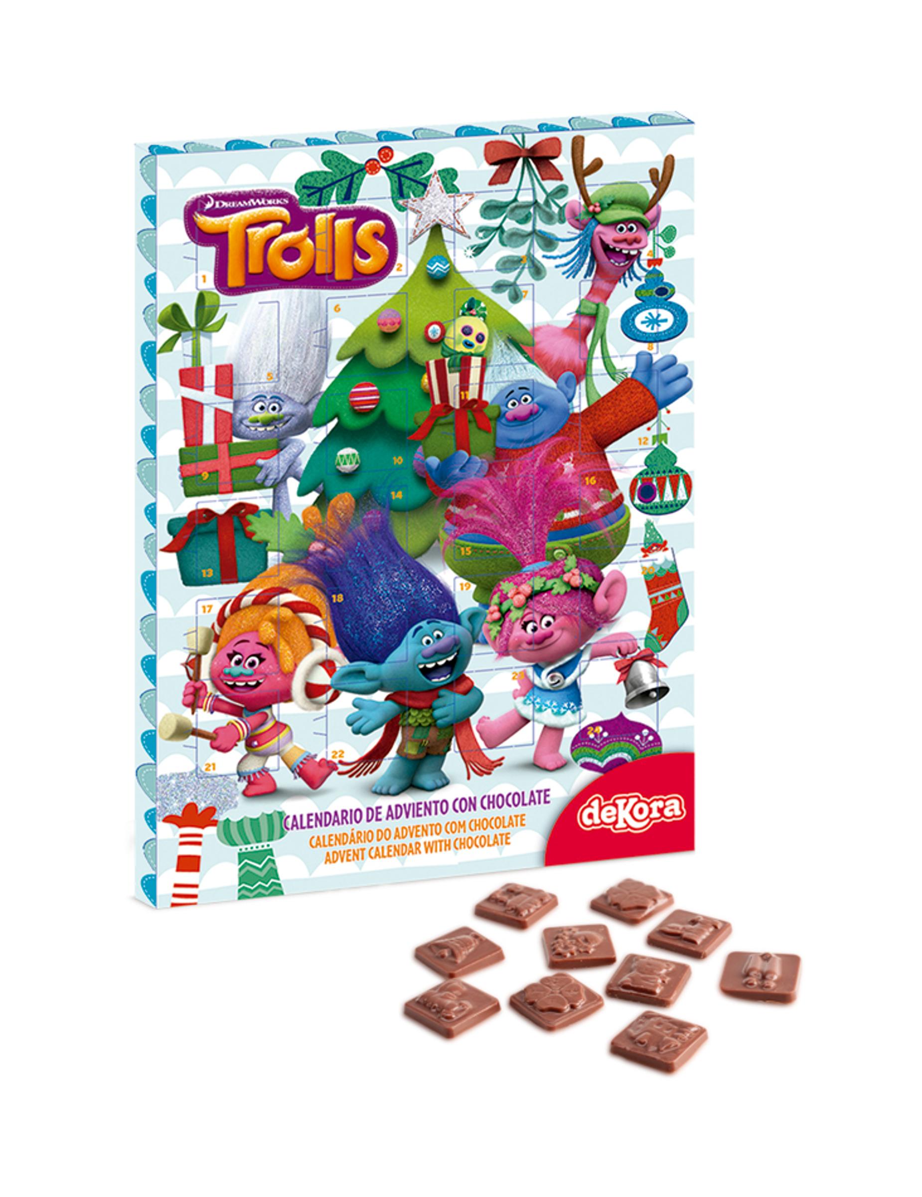 Calendario Dellavvento Con Cioccolatini Trolls Su Vegaooparty