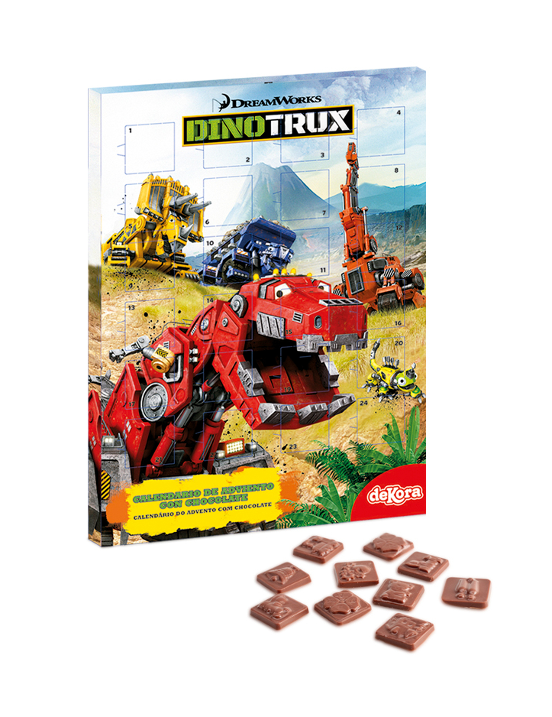 Calendario Dellavvento Con Cioccolatini Dinotrux Su Vegaooparty
