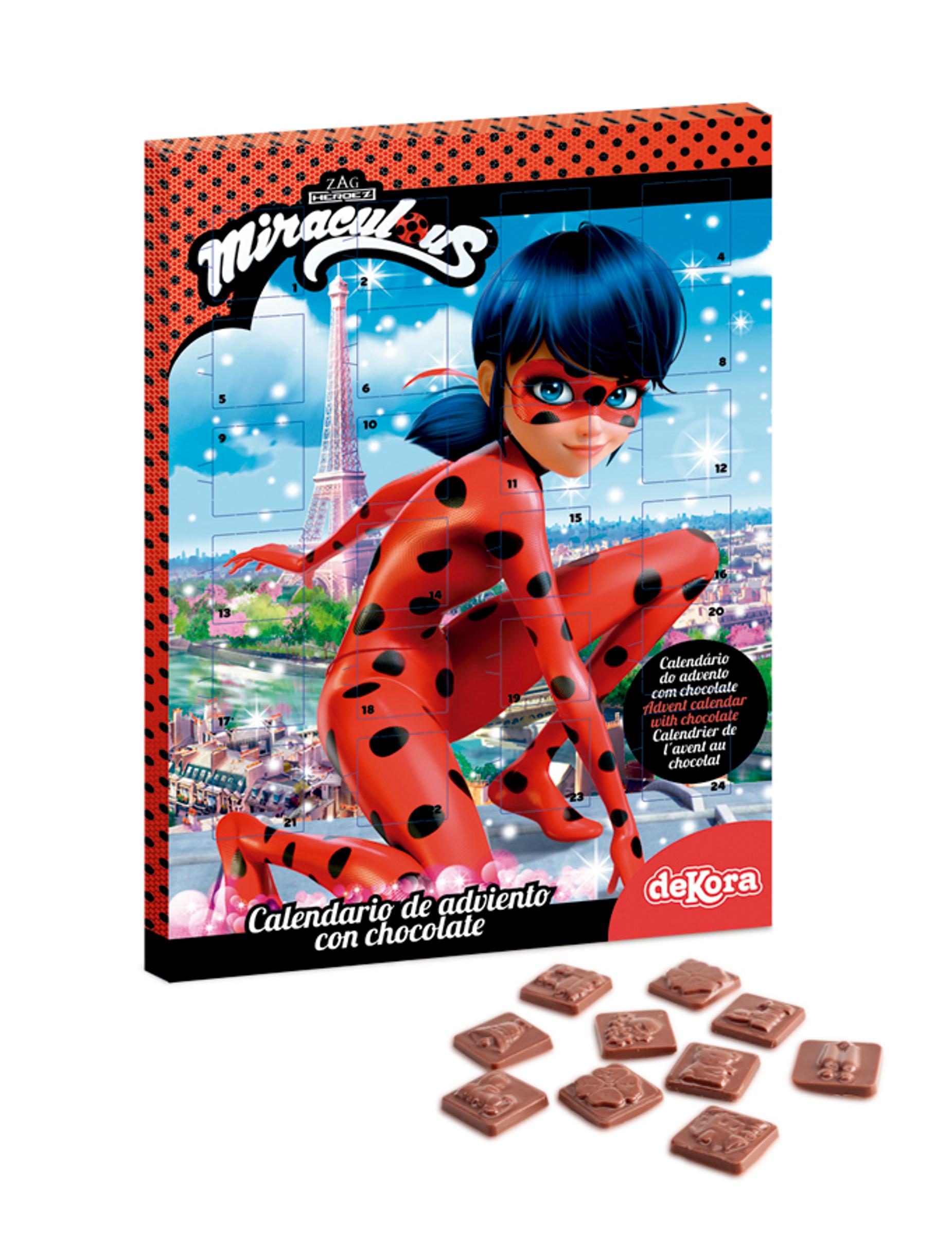 Calendario Avvento Cioccolato.Calendario Dell Avvento Con Cioccolatini Ladybug Su Vegaooparty Negozio Di Articoli Per Feste