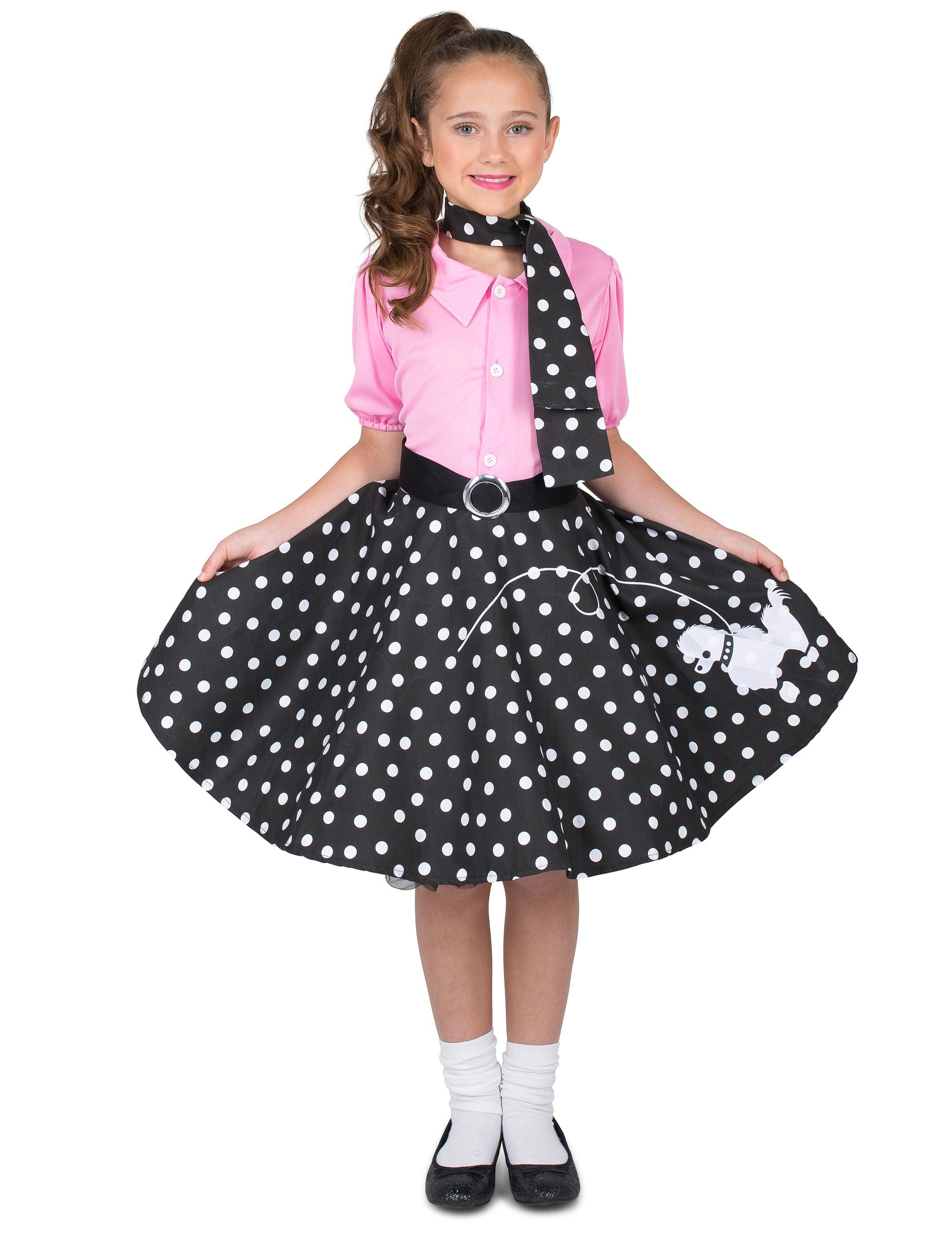 Costume anni  50 stile rock and roll bambina su VegaooParty b7dea9125ea