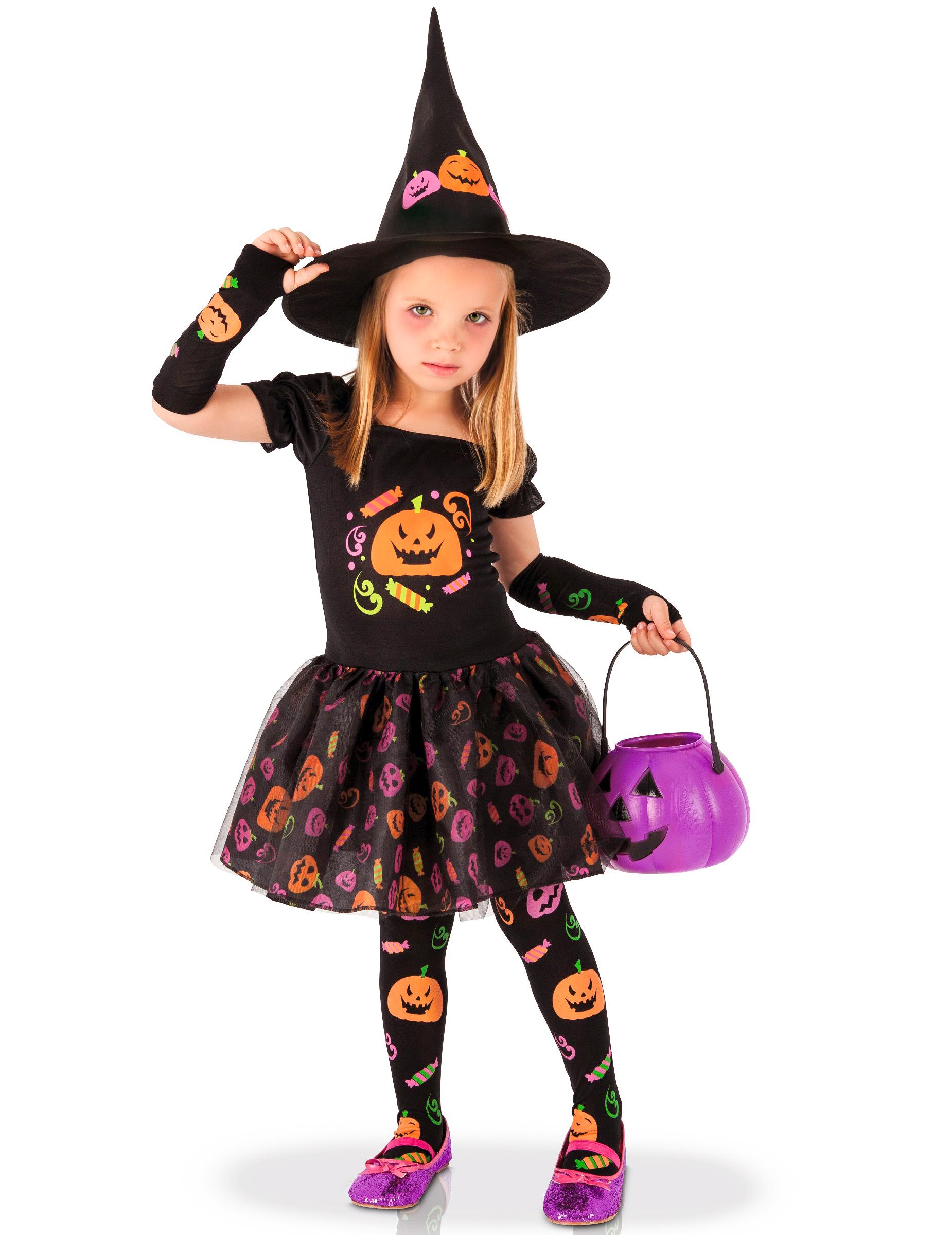 Costume da strega con zucche per bambina su VegaooParty 9fec7e5d3d8e