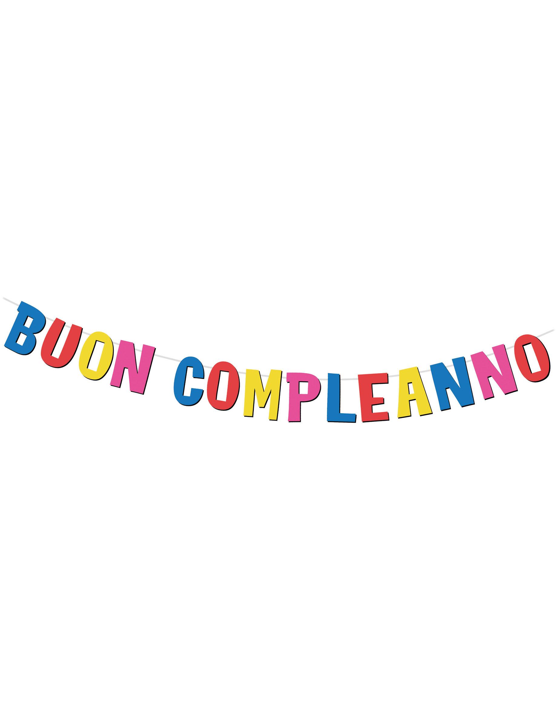 Ghirlanda Con Lettere In Cartone Buon Compleanno Su Vegaooparty