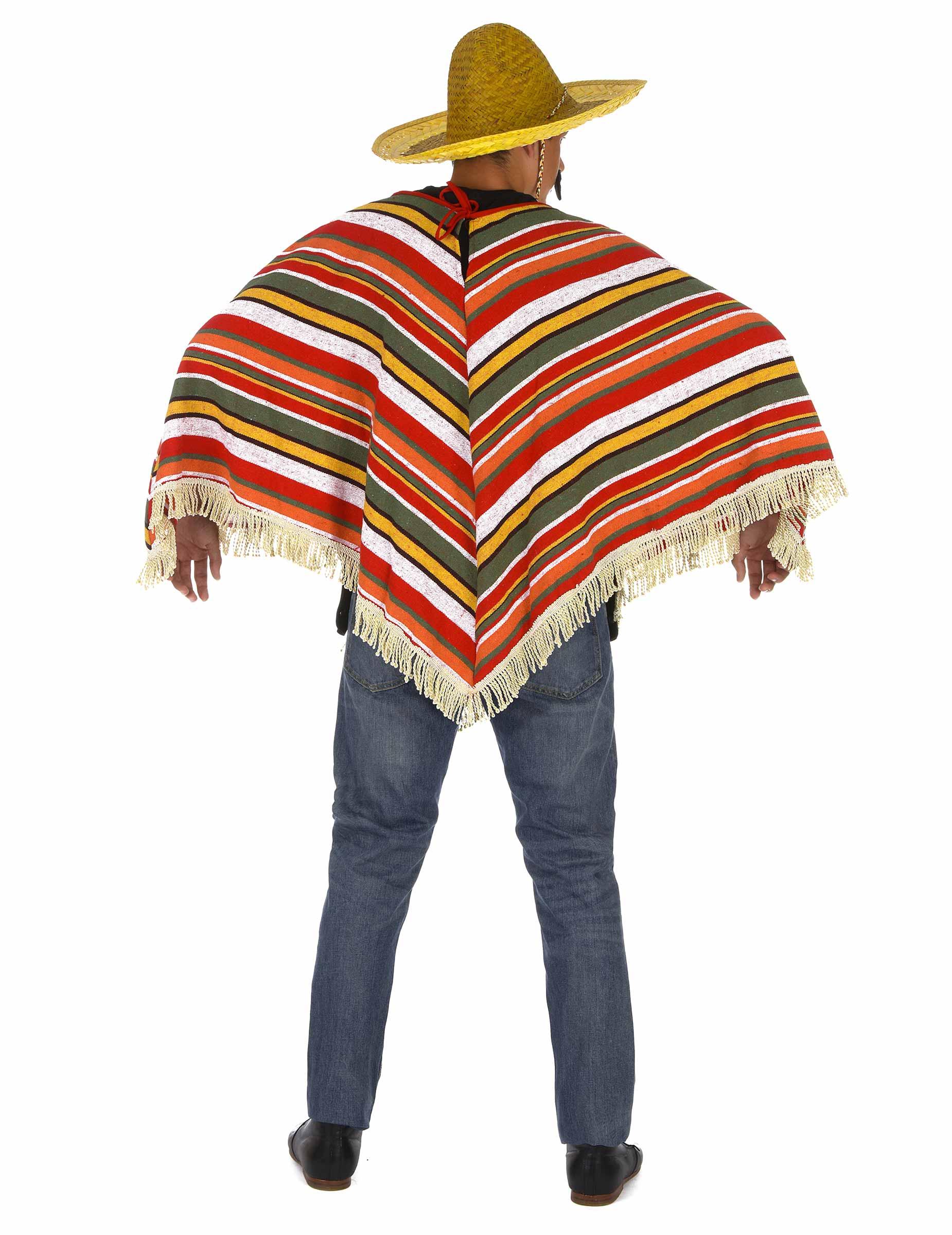 Poncho messicano colorato per adulti su VegaooParty f47293e4588a