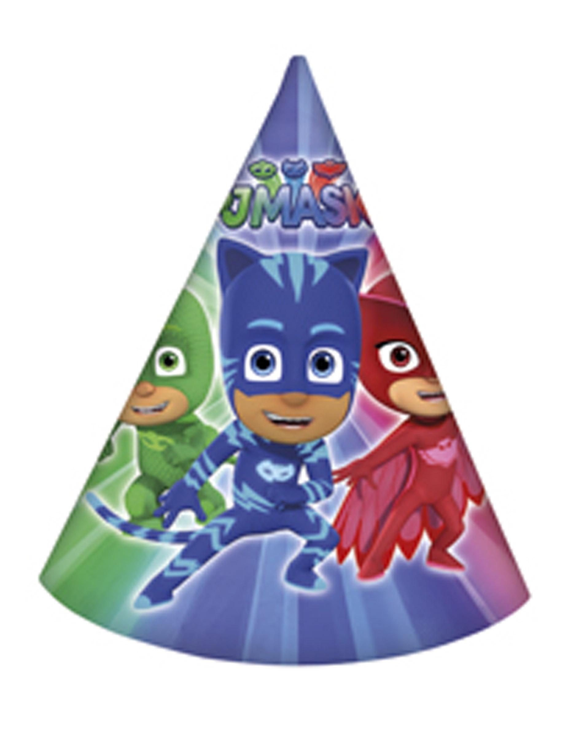 6 cappellini per festa Super Pigiamini™ su VegaooParty 113449797819