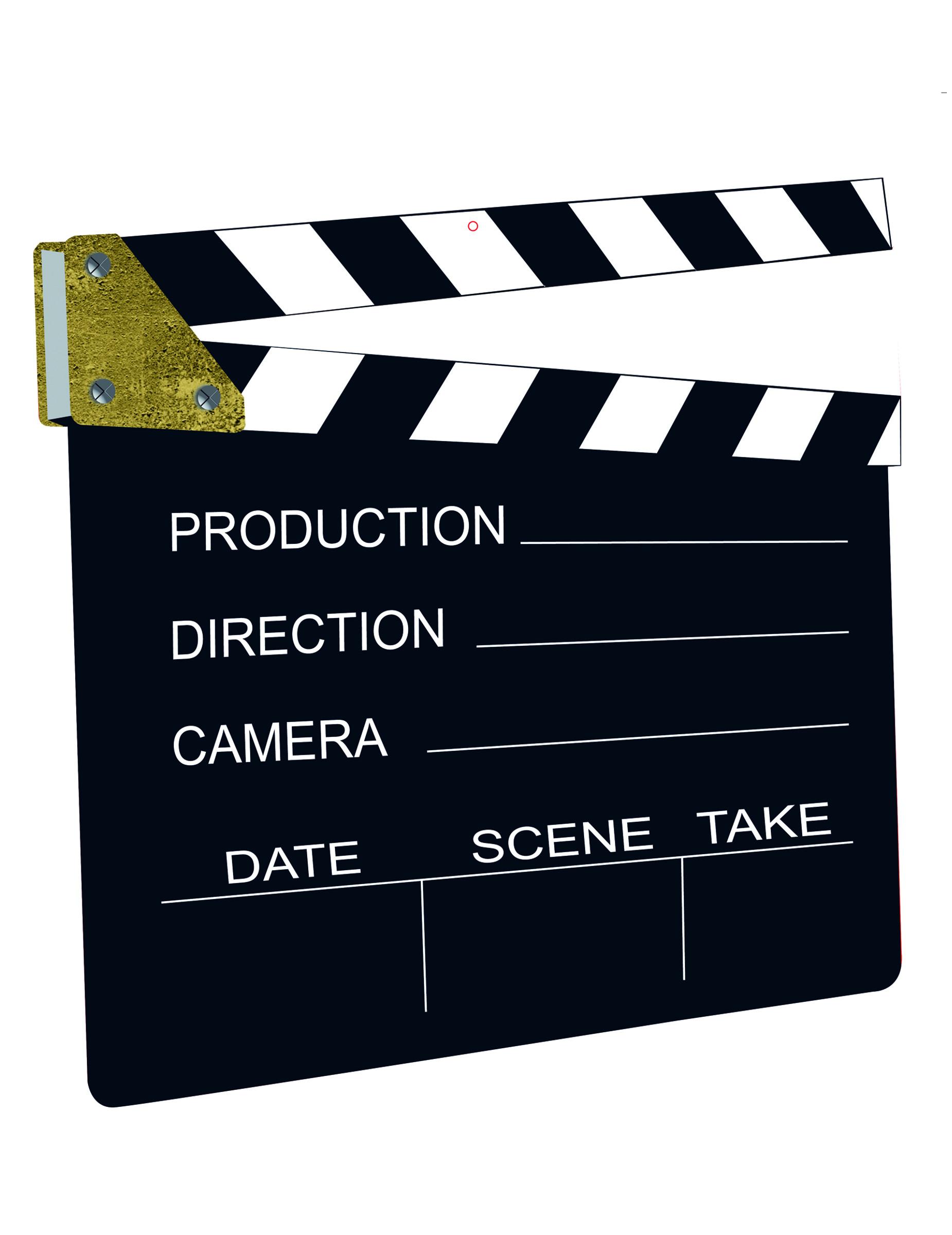 ciak cinematografico  Ciak cinematografico decorativo su VegaooParty, negozio di articoli ...