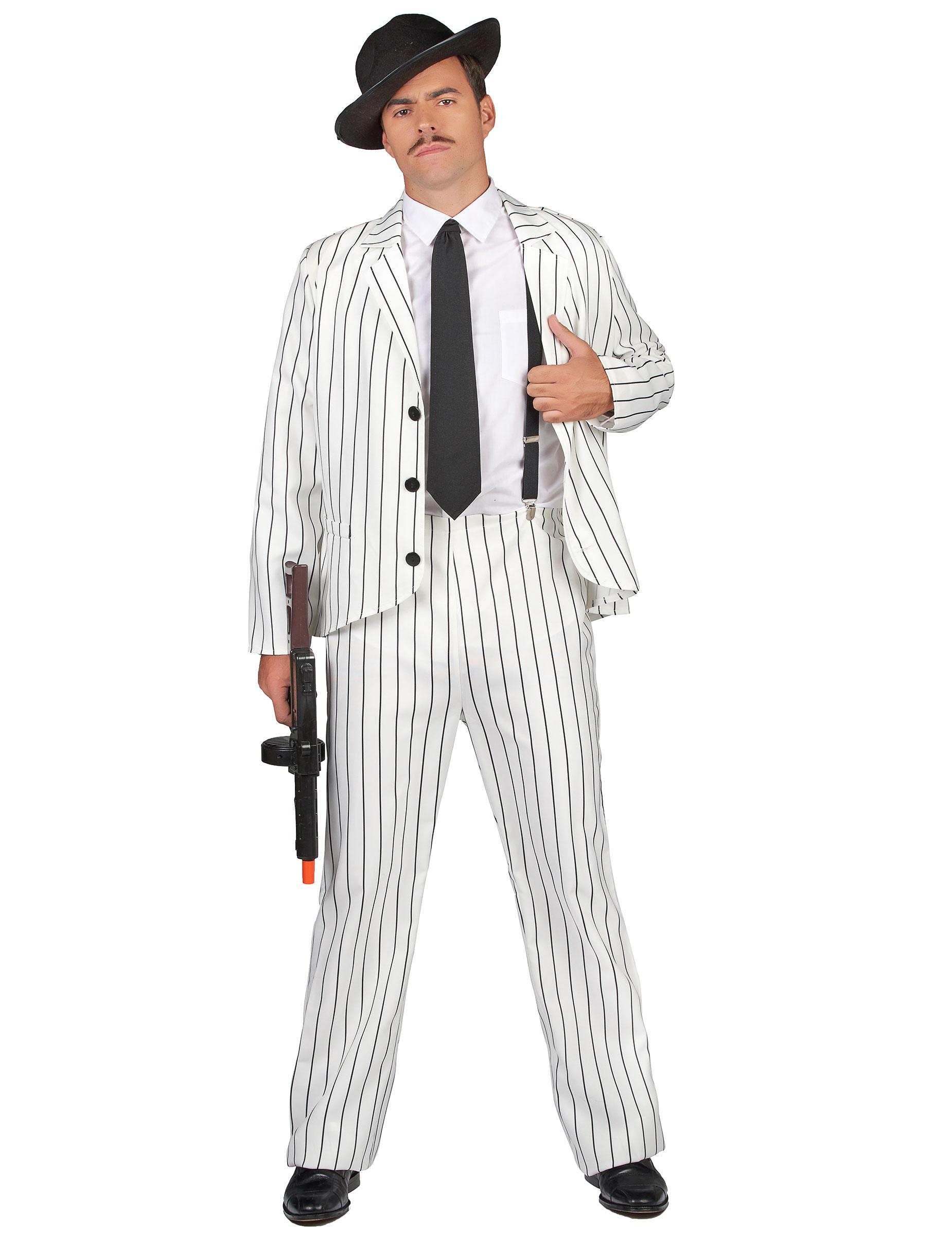 Costume da gangster in bianco per uomo su VegaooParty 1b8b935f77c7