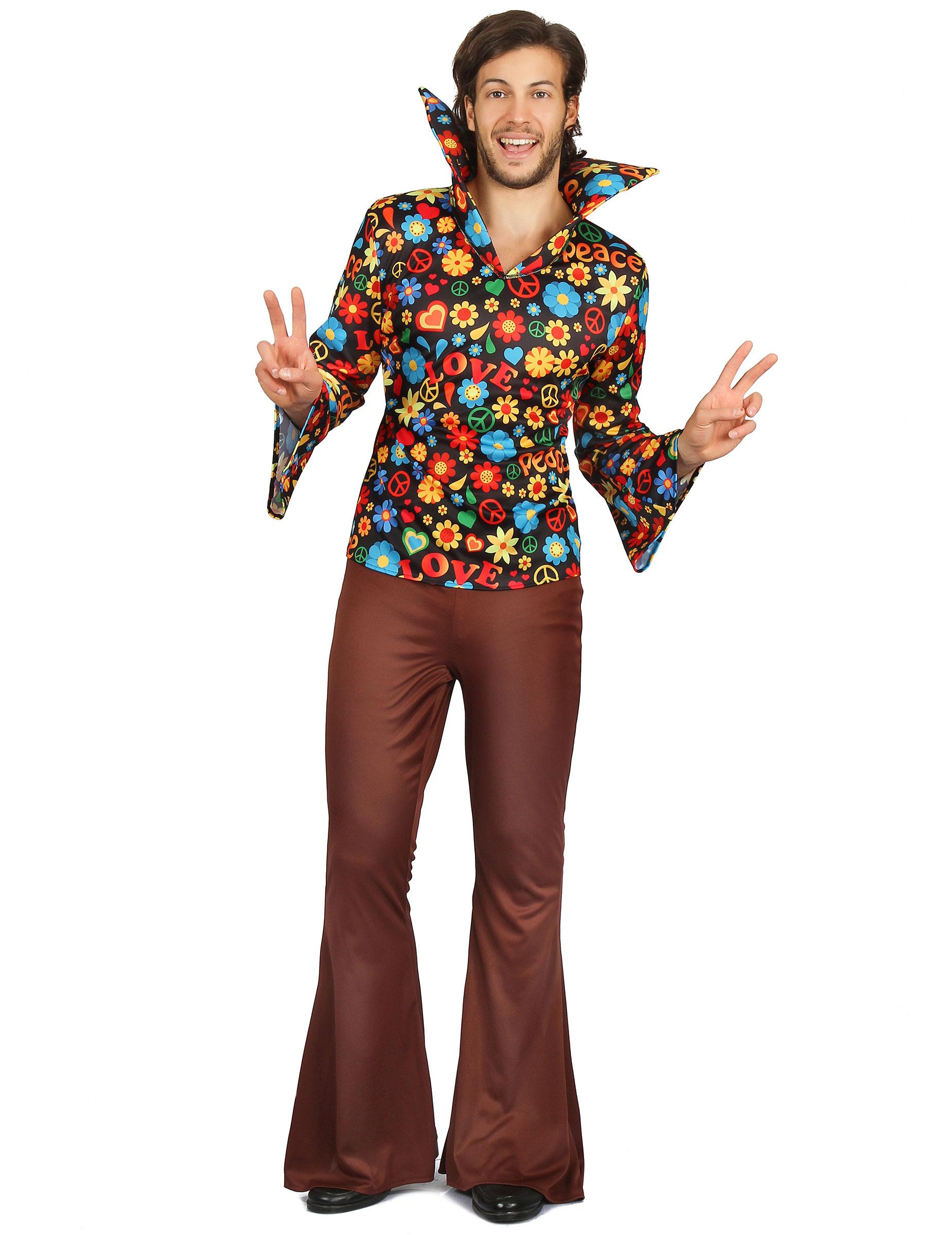 Travestimento da hippy pantaloni a zampa per uomo su VegaooParty ... 4fb77ccea9a
