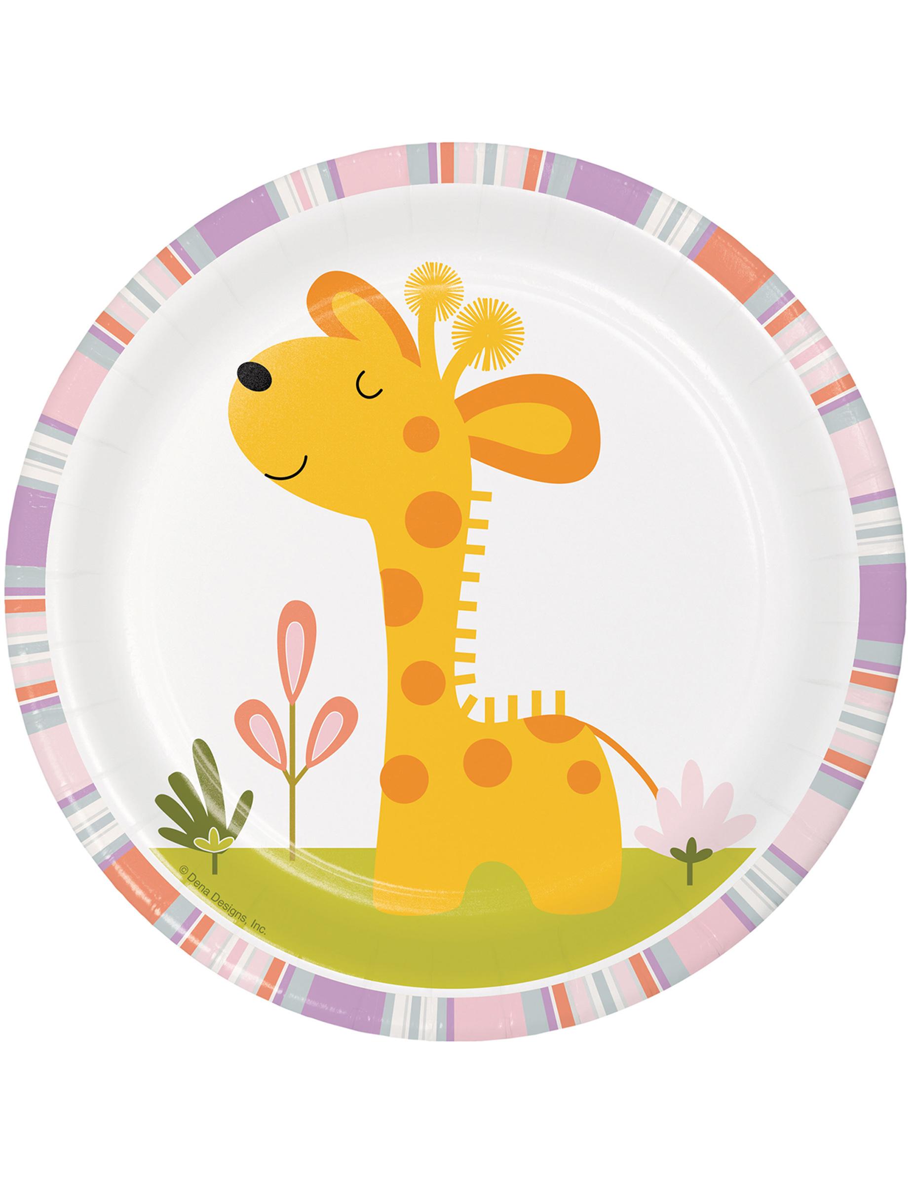 Piattini in cartone animali della giungla cm su