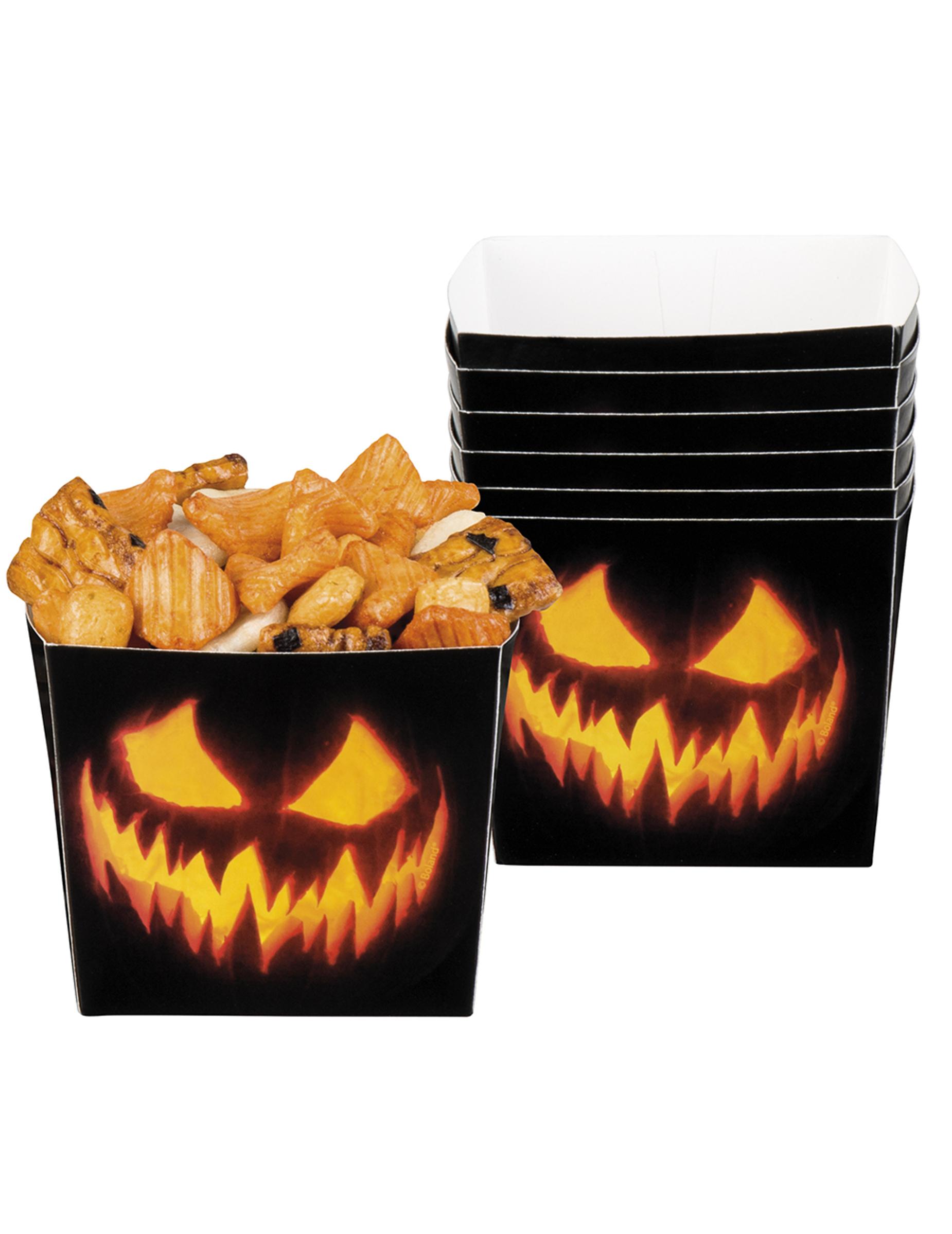 Zucche Di Halloween Terrificanti.6 Coppette Aperitivo Zucca Terrificante Su Vegaooparty Negozio Di Articoli Per Feste