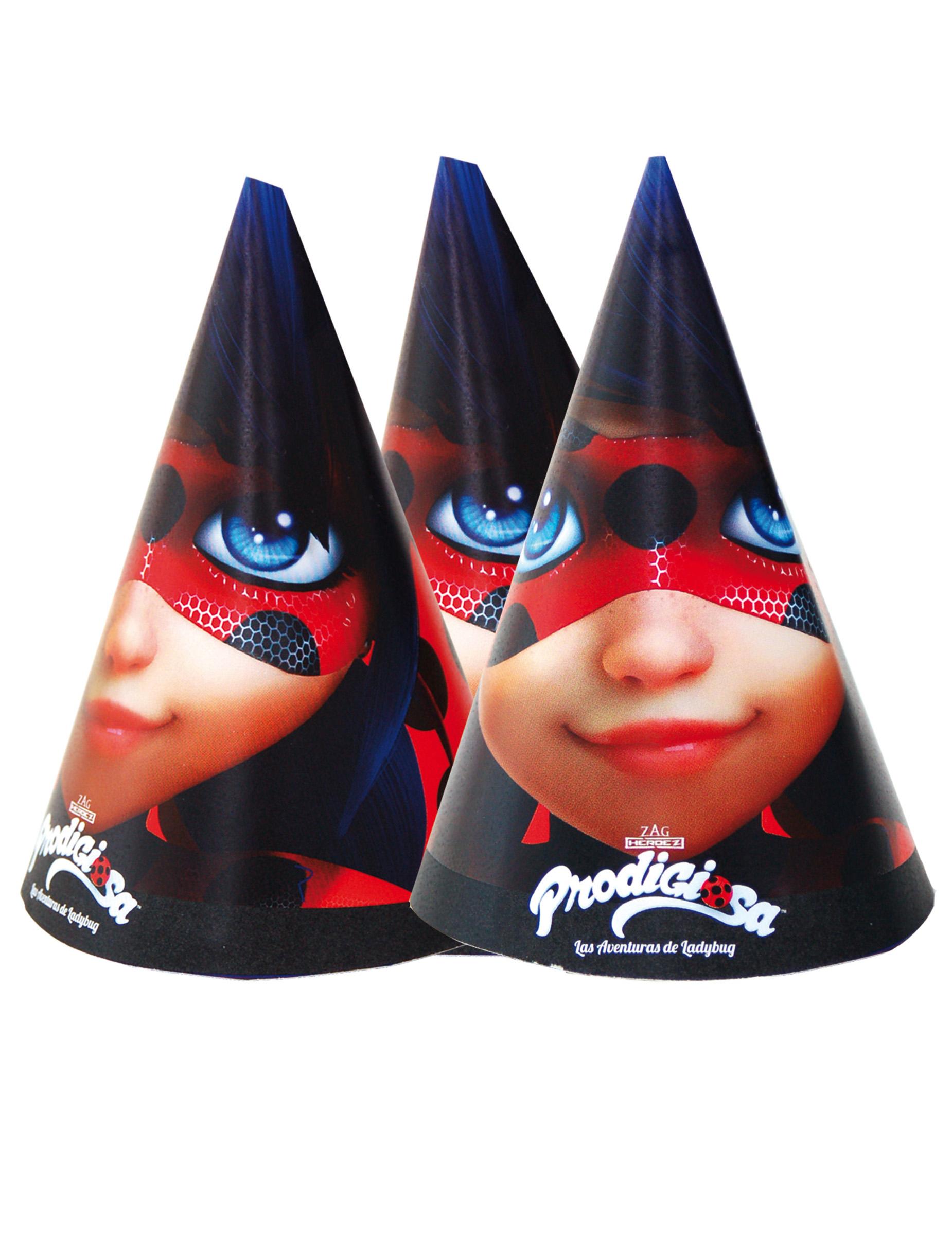 6 cappellini per festa Ladybug™ su VegaooParty 6bdb54b34b0a