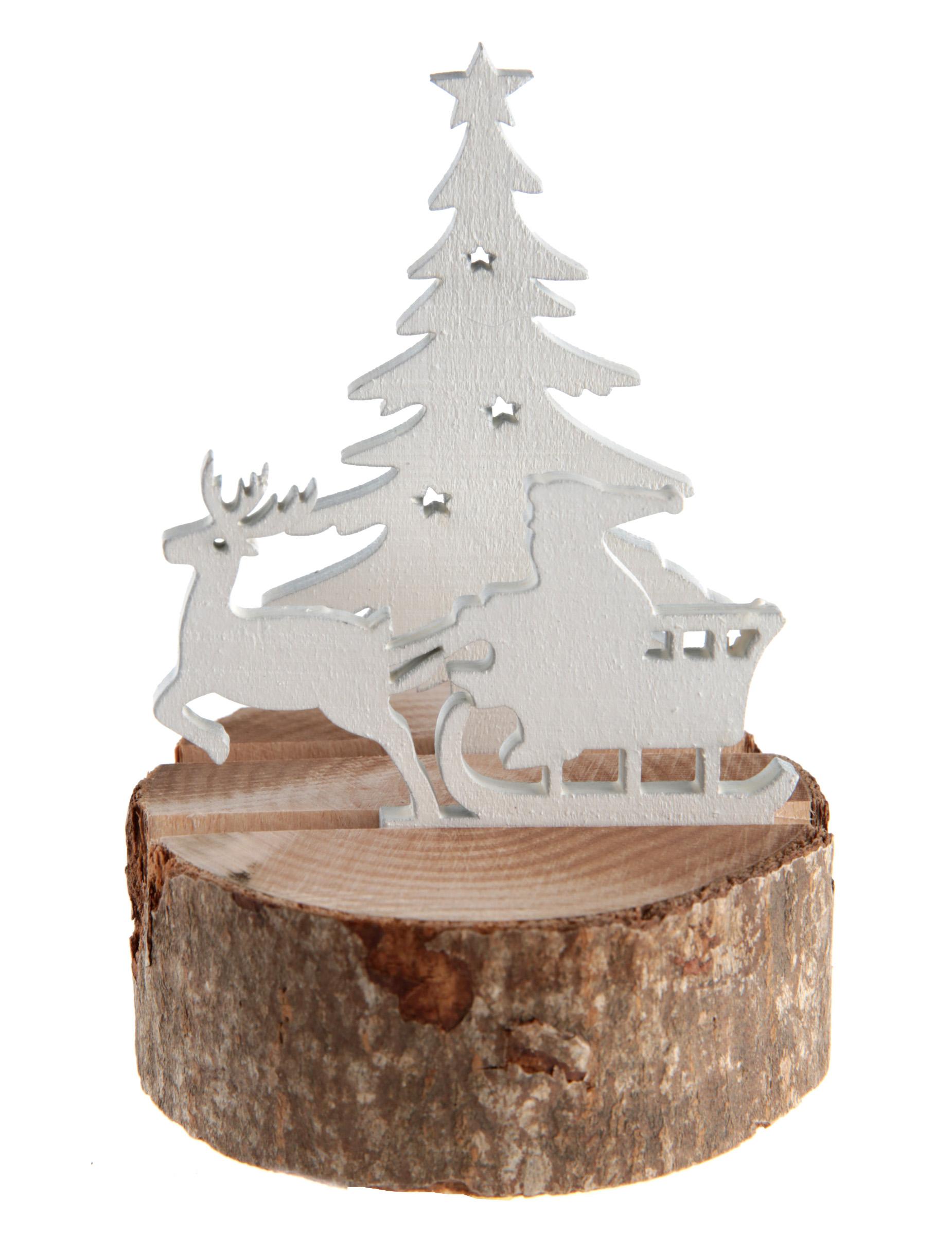 Slitta Di Babbo Natale Fai Da Te.Decorazione In Legno Naturale Slitta Di Babbo Natale Su Vegaooparty