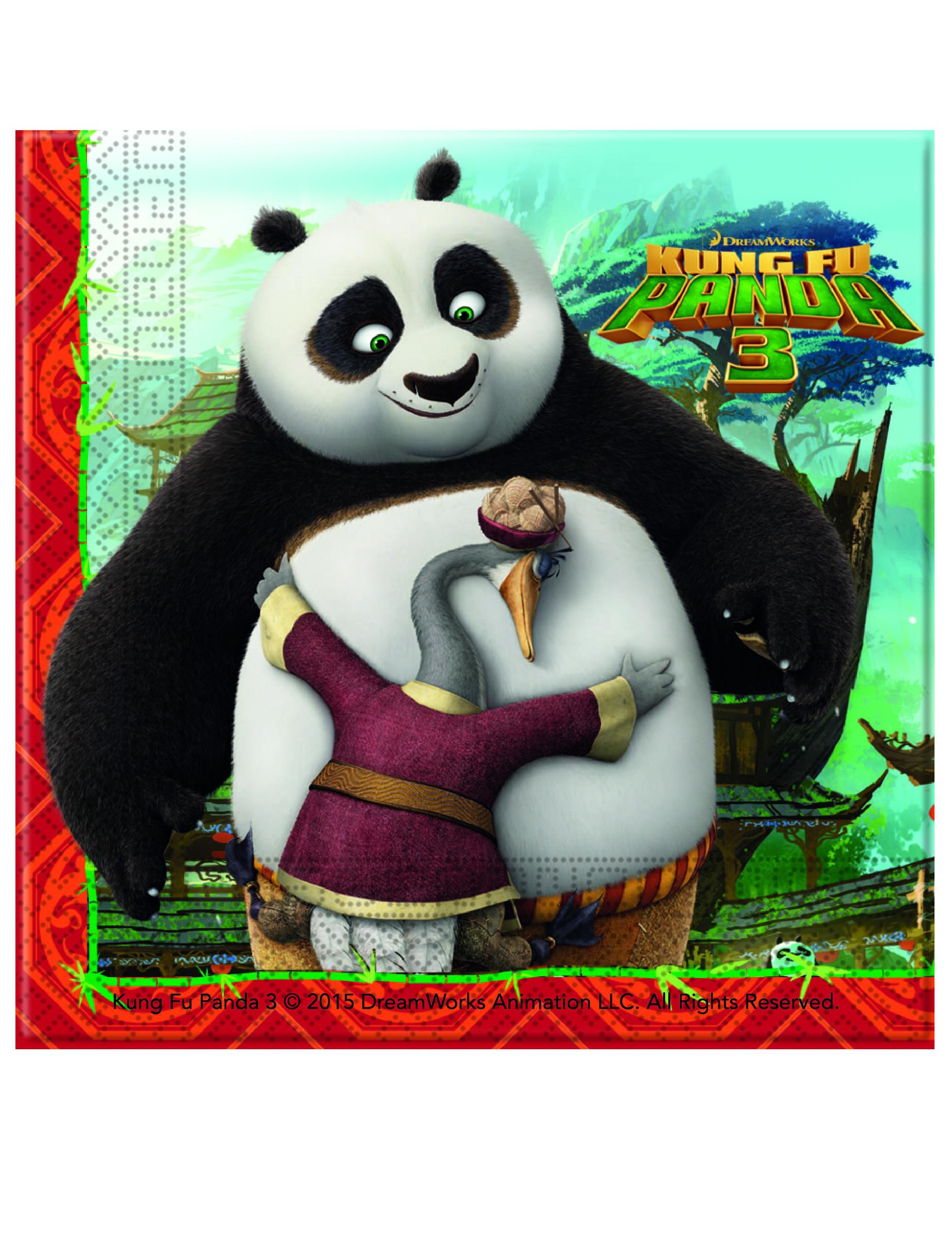 20 tovaglioli di carta kung fu panda 3™ su vegaooparty negozio di