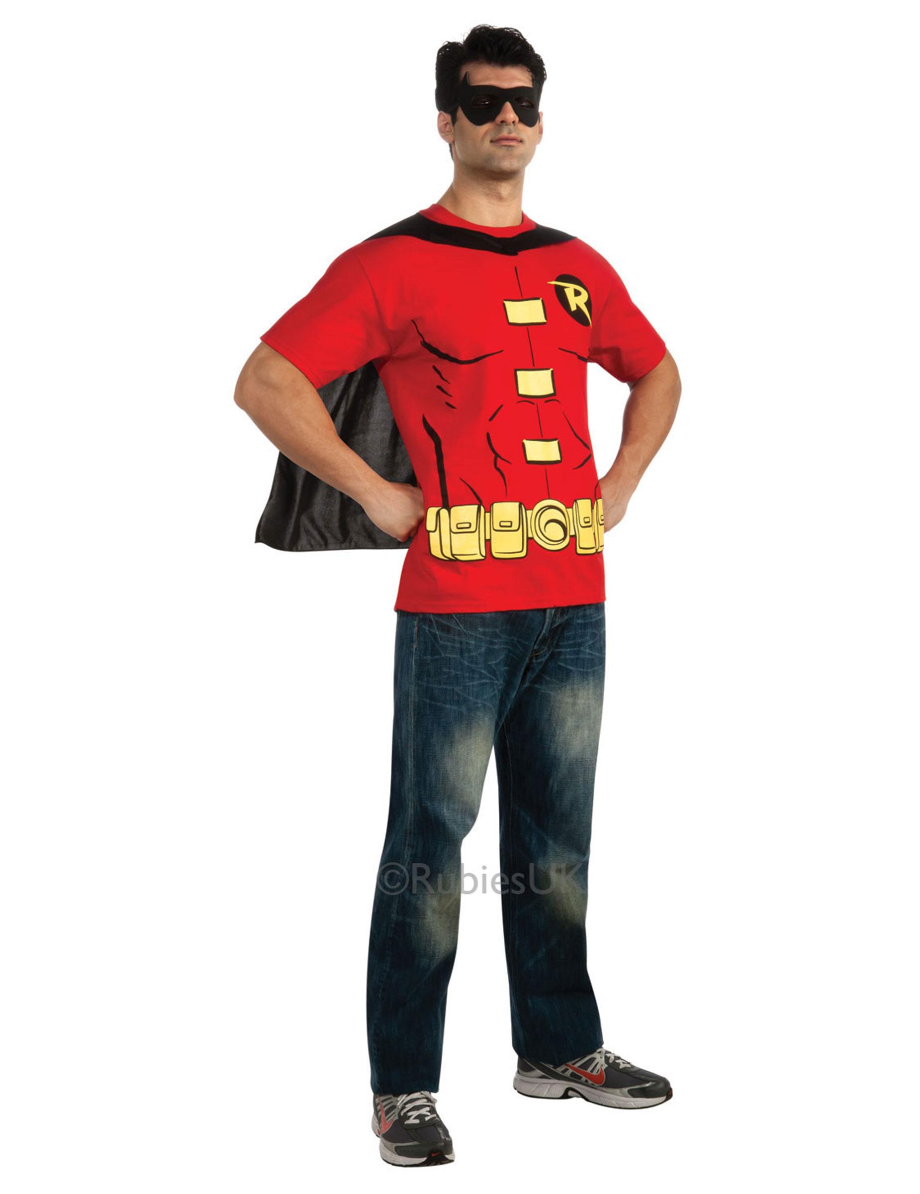 T-shirt e maschera di Robin™ per adulto su VegaooParty 9dc9ec2ede7