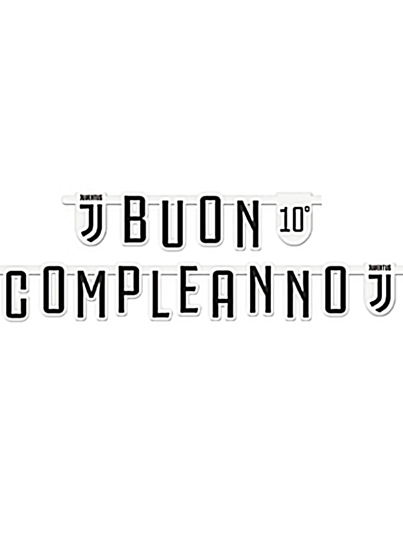 Ghirlanda Buon Compleanno Juventus Personalizzabile Su Vegaooparty