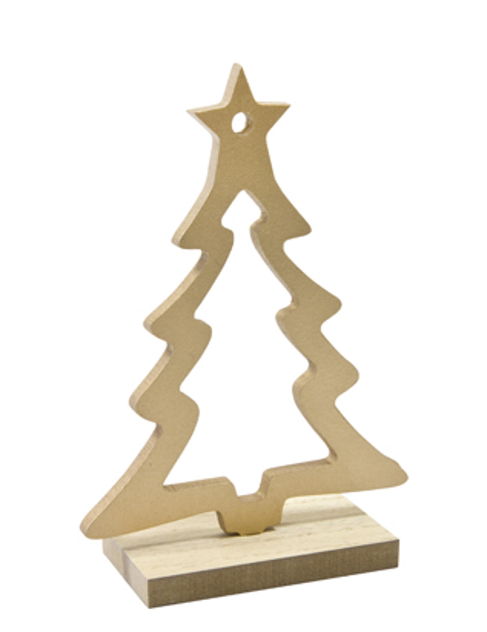 Albero Di Natale In Legno.Decorazione Di Legno Albero Di Natale Dorato Su Vegaooparty Negozio Di Articoli Per Feste