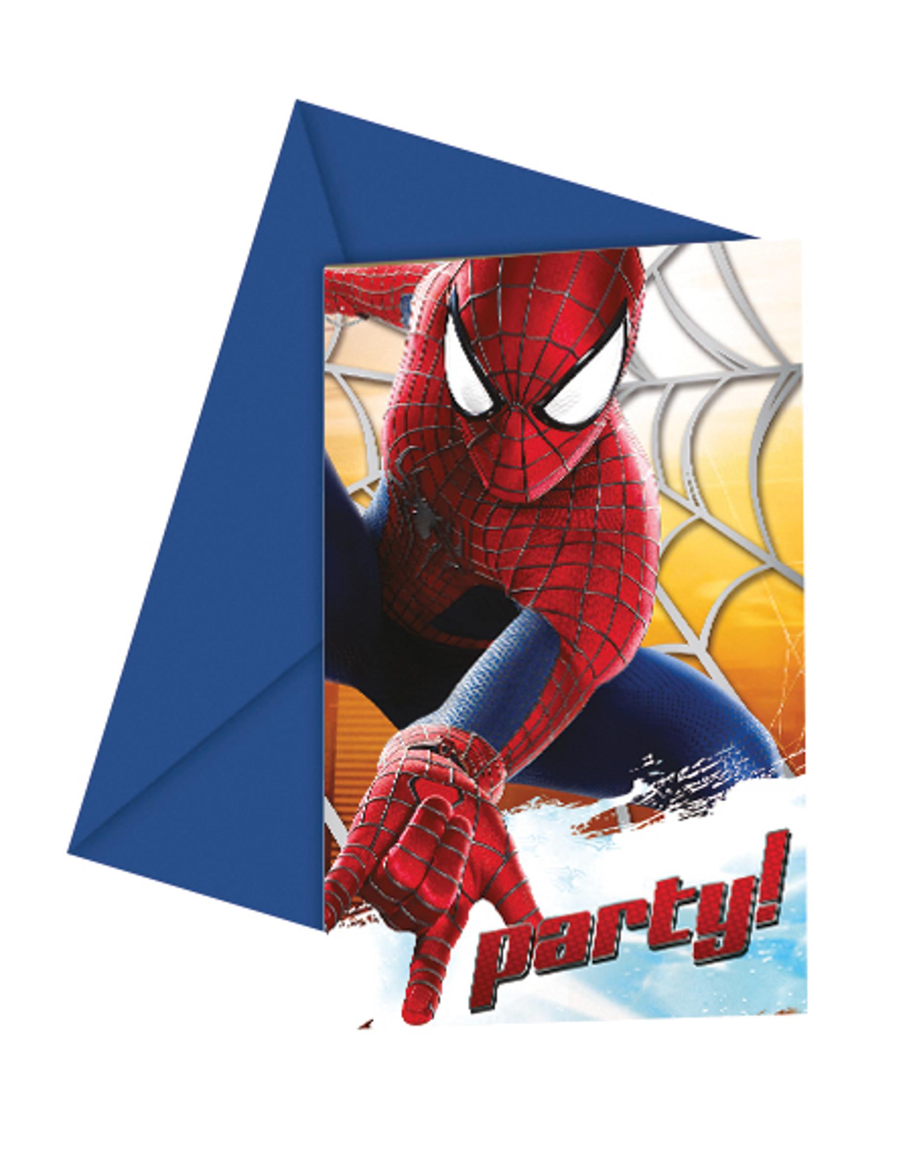 6 inviti di compleanno The Amazing Spiderman™ su VegaooParty