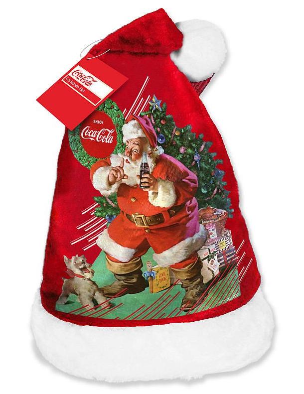 Coca Cola Babbo Natale.Cappello In Velluto Babbo Natale Della Coca Cola Su Vegaooparty Negozio Di Articoli Per Feste
