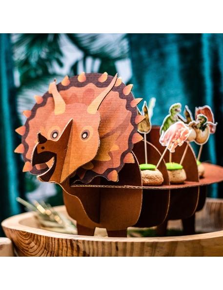 Alzatina in cartone a forma di dinosauro su VegaooParty ...