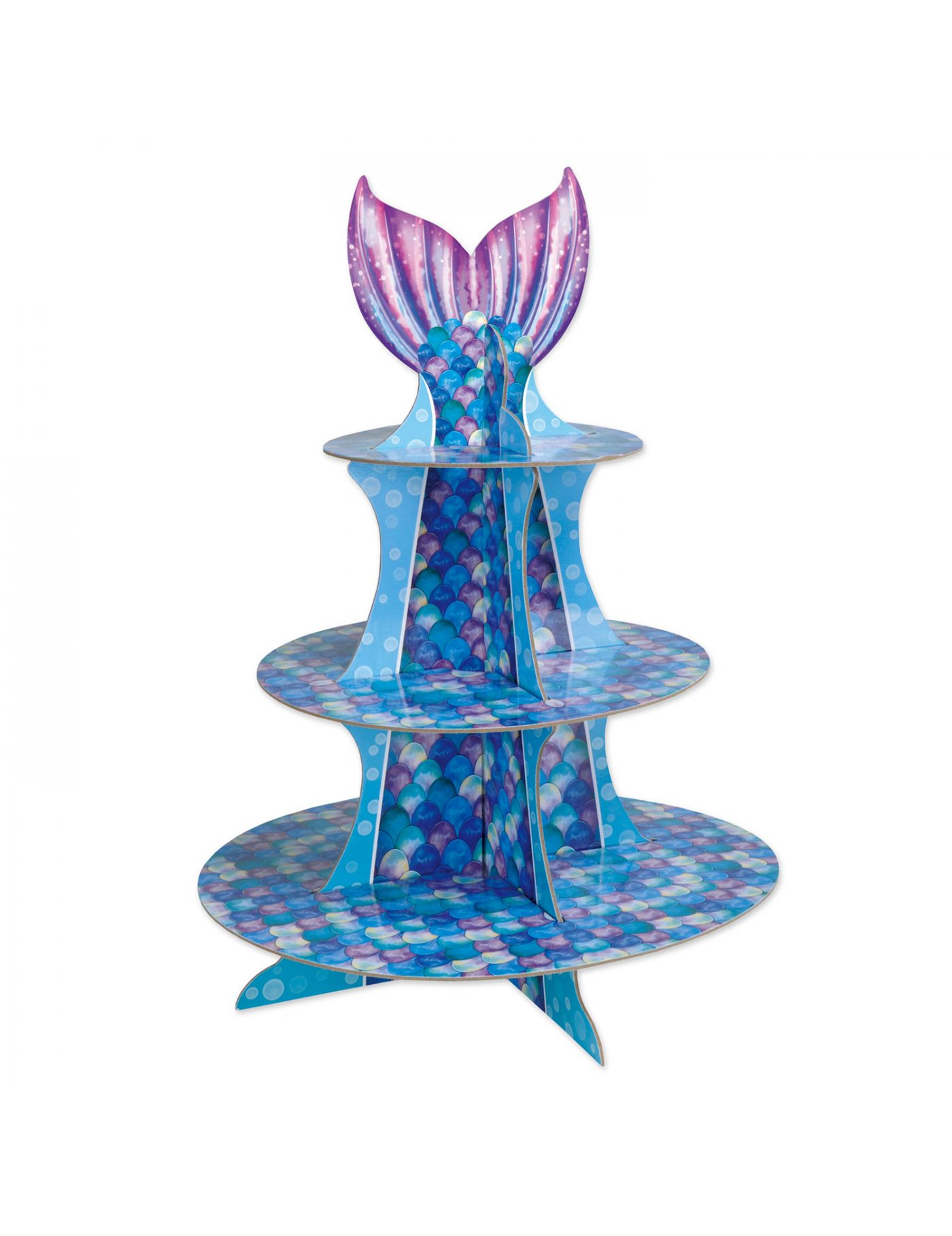 Alzatina per cupcakes sirena viola e blu su VegaooParty ...