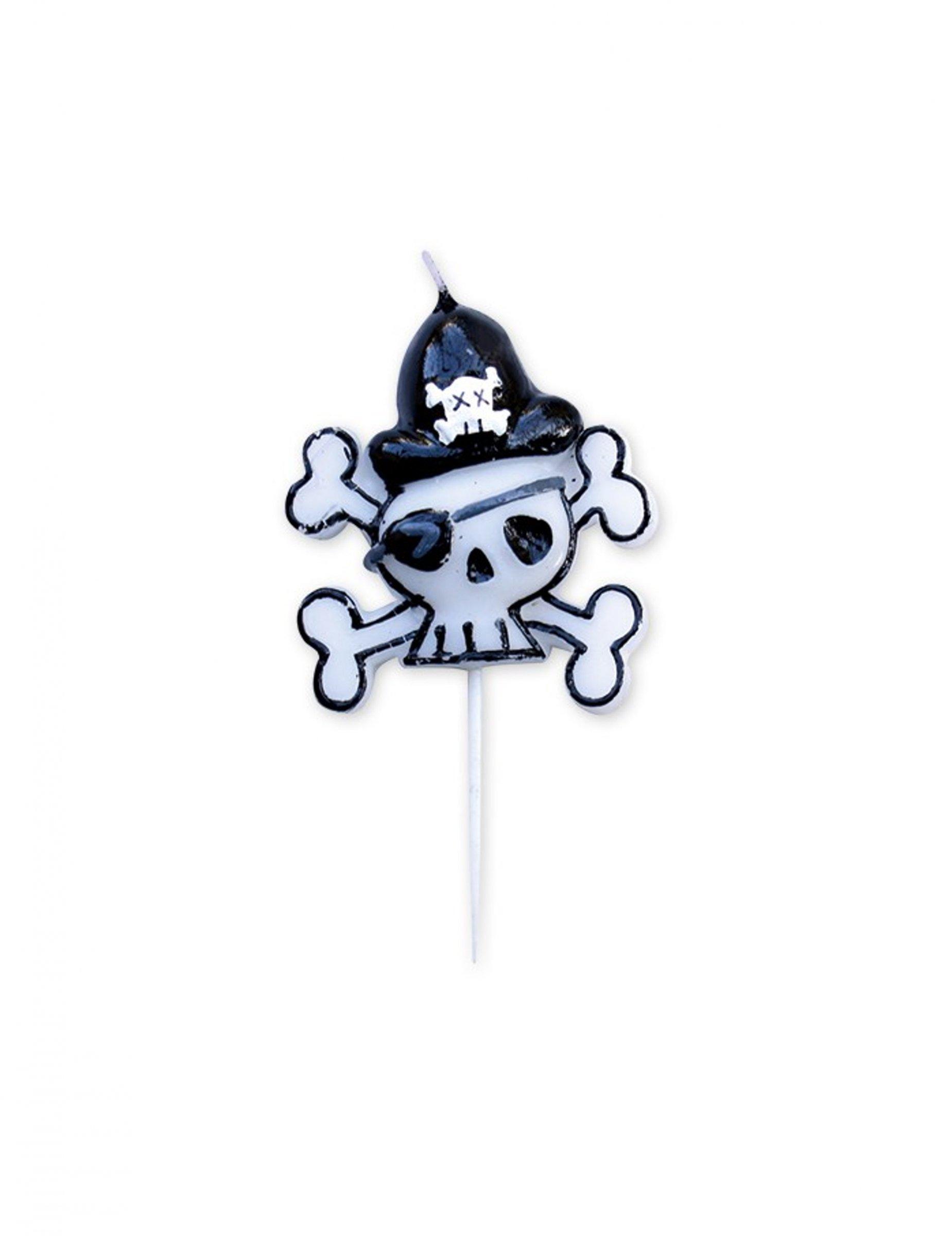 Immagini Di Teschio Pirati candelina di compleanno teschio pirata su vegaooparty, negozio di articoli  per feste