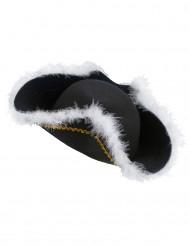 Cappello con pelliccia da pirata per adulto