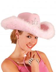 Cappello rosa da cowgirl da donna