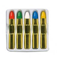 5 matite per trucco colorate