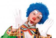 Parrucca da clown blu per adulto
