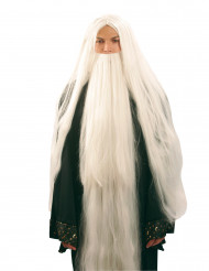 Parrucca e barba lunga da mago da uomo