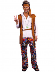 Costume hippie con fascia da uomo