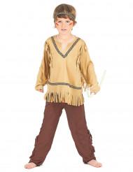 Costume indiano beige e marrone bimbo