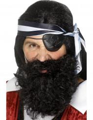 Barba nera da pirata per adulto