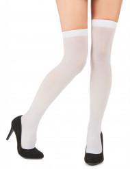 Calze autoreggenti bianche opache da donna