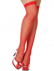 Calze a rete da donna rosse