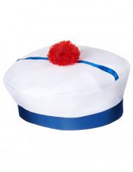Cappello da marinaio per adulti con pompom