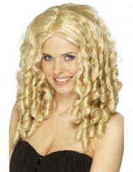 Parrucca bionda da donna con ricci