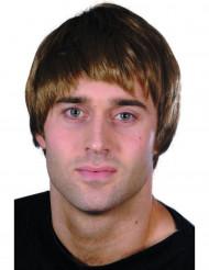 Parrucca corta da uomo di colore marrone