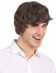 Parrucca castana moderna per uomo