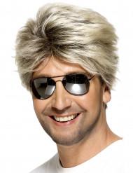 Parrucca corta di colore biondo da uomo