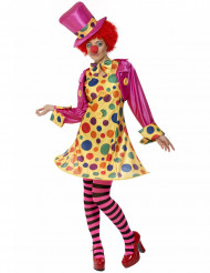 Costume da clown con gonna per donna