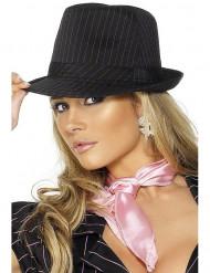 Cappello da gangster adulti gessato rosa
