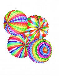 12 lanterne rotonde in svariati colori