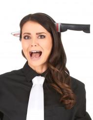 Cerchietto con coltello insanguinato