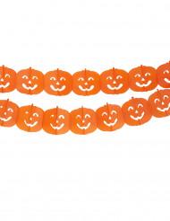 Ghirlanda con zucche per Halloween