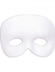 Mezza maschera bianca per adulto